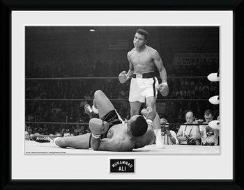 Muhammad Ali - Liston 2 Poster encadré en verre