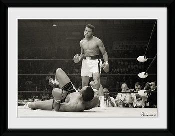 Muhammad Ali - Liston Poster encadré en verre