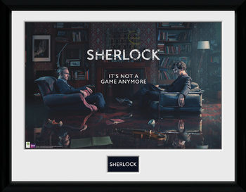 Sherlock - Rising Tide Poster encadré en verre