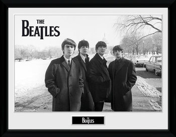 The Beatles - Capitol Hill Poster encadré en verre