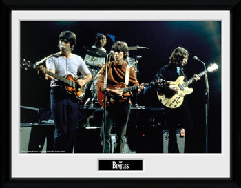 The Beatles - Live Poster encadré en verre