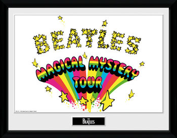 The Beatles - Magical Mystery Poster encadré en verre