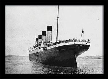 Titanic (3) Poster encadré en verre