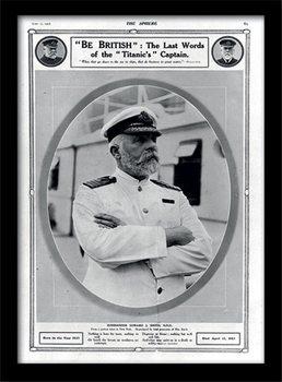 Titanic (5) Poster encadré en verre