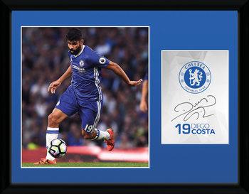 Chelsea - Costa 16/17 Poster emoldurado de vidro