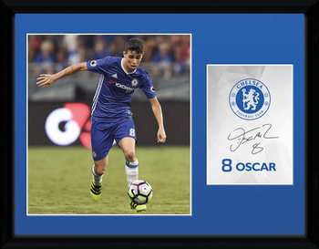 Chelsea - Oscar 16/17 Poster emoldurado de vidro