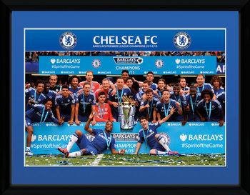 Chelsea - Premier League Winners 14/15 Poster emoldurado de vidro