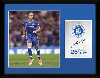 Chelsea - Terry 16/17 Poster emoldurado de vidro