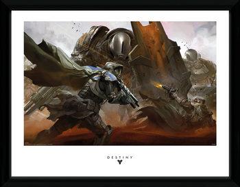 Destiny - Cabal Battle Poster emoldurado de vidro