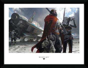 Destiny - Guardians Poster emoldurado de vidro