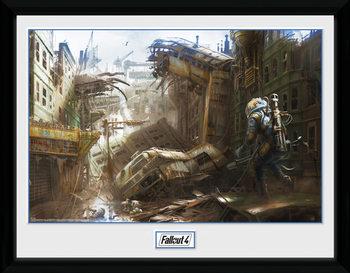 Fallout 4 - Vertical Slice Poster emoldurado de vidro