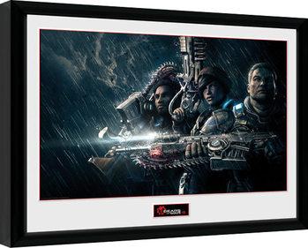 Gears of War 4 - Landscape Poster emoldurado de vidro