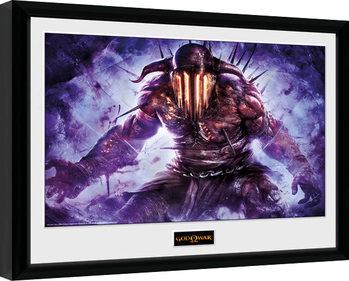 God of War - Hades Poster emoldurado de vidro