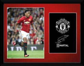 Manchester United - Martial 16/17 Poster emoldurado de vidro