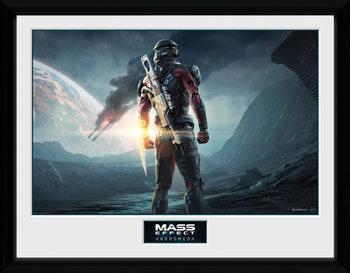 Mass Effect Andromeda - Landscape Poster emoldurado de vidro