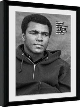Muhammad Ali - Dreams Poster emoldurado de vidro