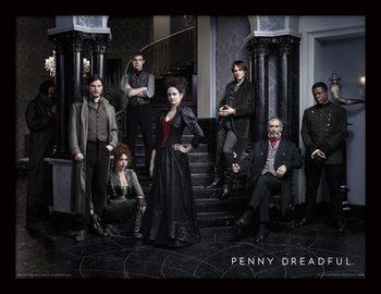 Penny Dreadful - Group Poster emoldurado de vidro