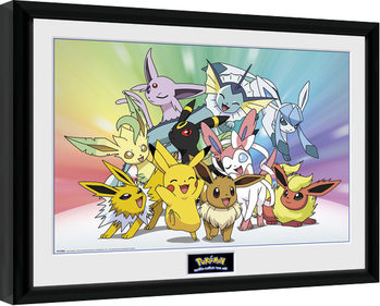 Pokemon - Eevee Poster Emoldurado