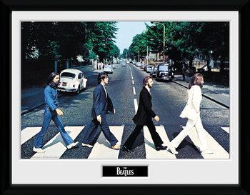 The Beatles - Abbey Road Poster emoldurado de vidro