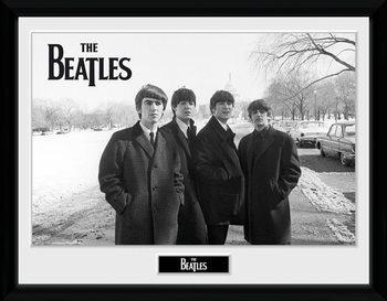 The Beatles - Capitol Hill Poster emoldurado de vidro