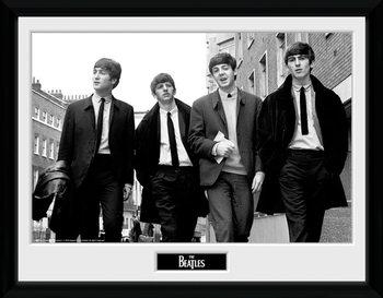 The Beatles - In London Poster emoldurado de vidro