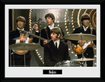 The Beatles - Live Poster emoldurado de vidro