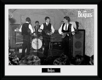 The Beatles - The Cavern 2 Poster emoldurado de vidro