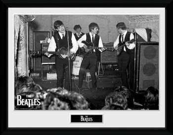 The Beatles - The Cavern 3 Poster emoldurado de vidro