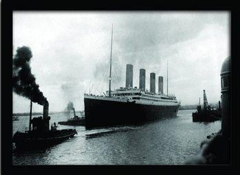 TITANIC (4) Poster emoldurado de vidro