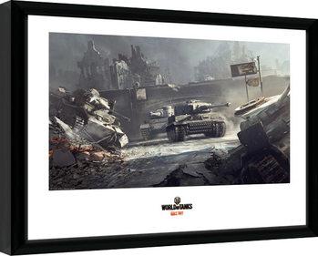World of Tanks - German Tanks Poster Emoldurado