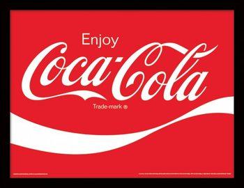 Poster emoldurado de vidroCoca-Cola - Logo
