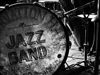 A base drums pinted front for the preservation hall sites silent Art Print
