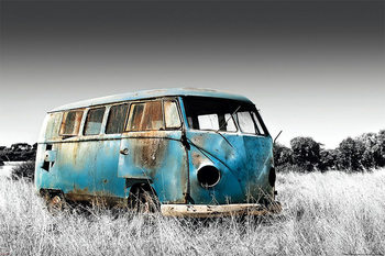 Abandoned Camper Van Poster