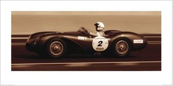 Aston Martin DB3S 1955, Ben Wood Art Print
