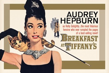 AUDREY HEPBURN - gold one sheet Poster, Art Print