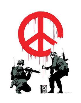 Banksy Street Art - Peace Soldiers Poster, Art Print