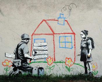 Banksy Street Art - Playhouse Poster, Art Print