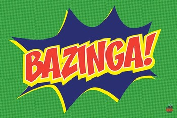 BIG BANG THEORY - bazinga icon Poster, Art Print