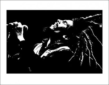 Bob Marley (B&W) Art Print