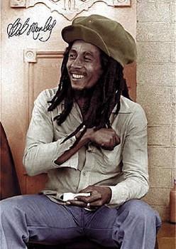 Bob Marley - rolling 2 Poster, Art Print