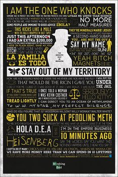 BREAKING BAD - typographic Poster