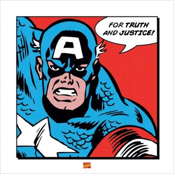 Captain America - For Truth and Justice Art Print