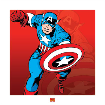 Captain America - Marvel Comics Art Print