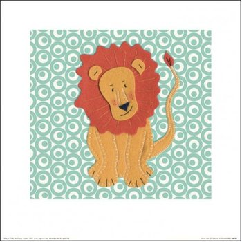 Catherine Colebrook - Fuzzy Lion Art Print