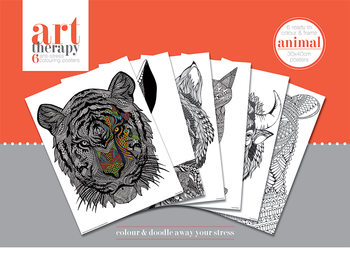 Art Therapy - Animal Coloring Poster