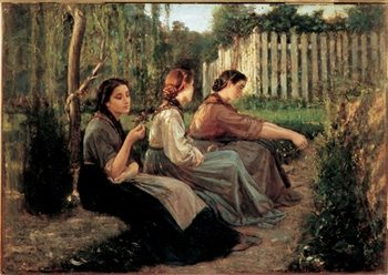 Confidences, 1868 Art Print
