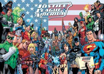 DC COMICS - jla classic group Poster, Art Print