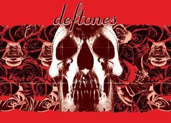 Deftones - Red roses Poster