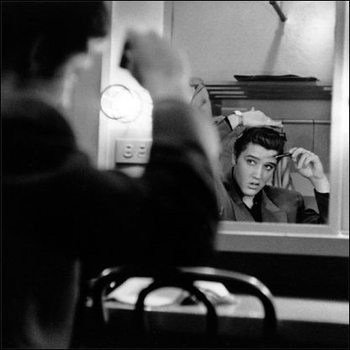 Elvis Presley - Mirror Art Print
