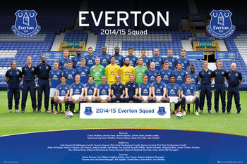 Pôster Everton FC - Team Photo 14/15